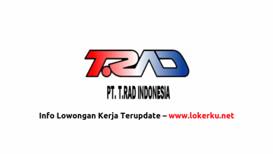 Photo of Lowongan Kerja PT T.RAD Indonesia 2020