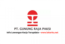 Photo of Lowongan Kerja PT Gunung Raja Paksi 2020