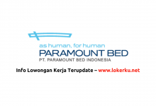 Photo of Lowongan Kerja PT Paramount Bed Indonesia 2020