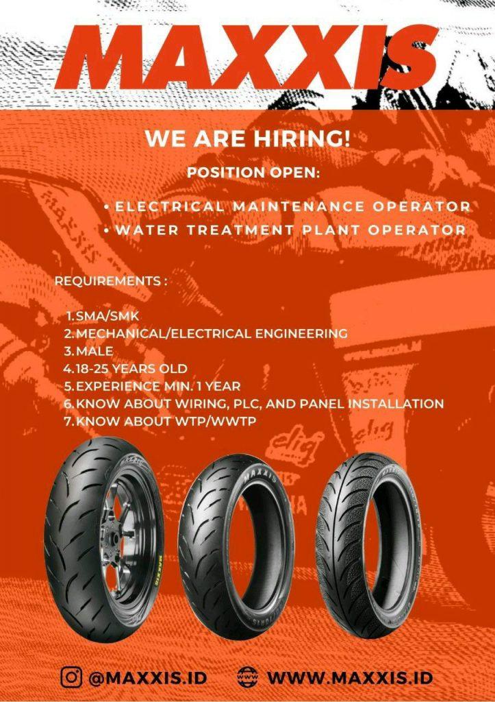 Lowongan Kerja Operator PT Maxxis International Indonesia Agustus 2020