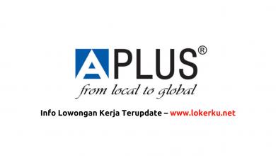 Photo of Lowongan Kerja PT Aplus Pacific Oktober 2020